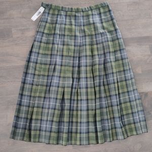 Pendleton Plaid Wool Skirt